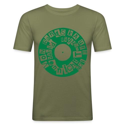 platten - Männer Slim Fit T-Shirt