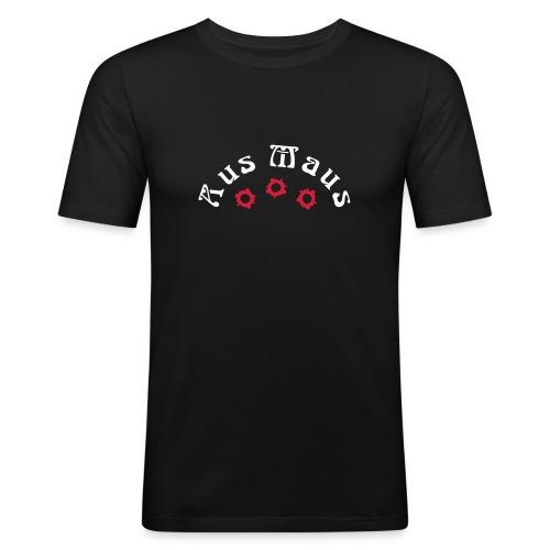 Aus Maus - Einschuß T-Shirt - Männer Slim Fit T-Shirt