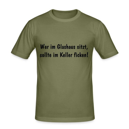 "Slim-Shirt ""Glashaus"" caramell - Männer Slim Fit T-Shirt"