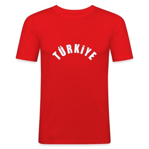 Türkiye kırmızı - Männer Slim Fit T-Shirt