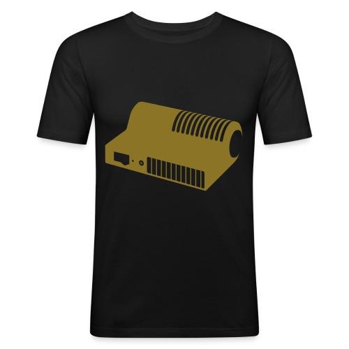 Men's Slim Fit T-Shirt - Stufetta T-shirt, derived from Studiocharlie's Design We Like typeface (sold on www.myfonts.com)