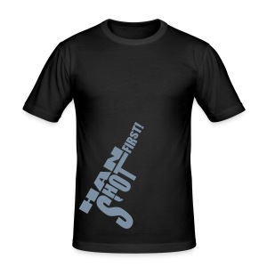 Han shot first! Silverprint - Men's Slim Fit T-Shirt