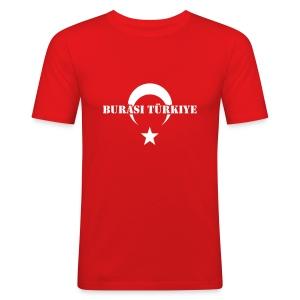 Burasi Türkiye - Männer Slim Fit T-Shirt
