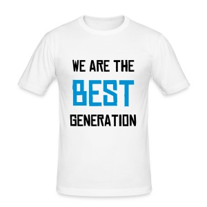 T-Shirt Moulan We are the best generation - Tee shirt près du corps Homme