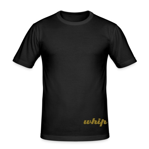 Whipped to the side (Black) - Men's Slim Fit T-Shirt