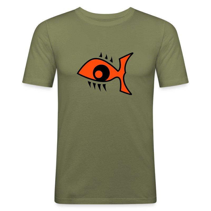 Eye Fish Shirt - Männer Slim Fit T-Shirt