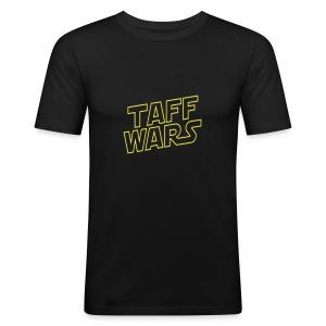 Taff Wars BLACK slimfit t-shirt - Men's Slim Fit T-Shirt