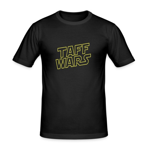 Taff Wars BLACK slimfit t-shirt - Men's Slim Fit T-Shirt