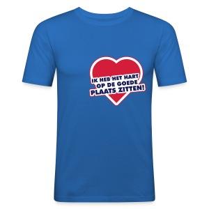 Ik heb het hart op de goede plaats zitten - slim fit T-shirt