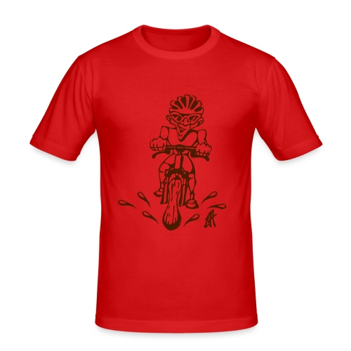 MTB action - Men's Slim Fit T-Shirt