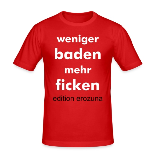 T-Shirt ONE - Männer Slim Fit T-Shirt