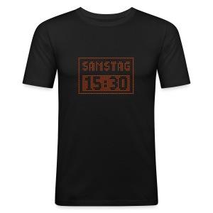 SAMSTAG 15:30 UHR (LED Stadionanzeige) - Männer Slim Fit T-Shirt