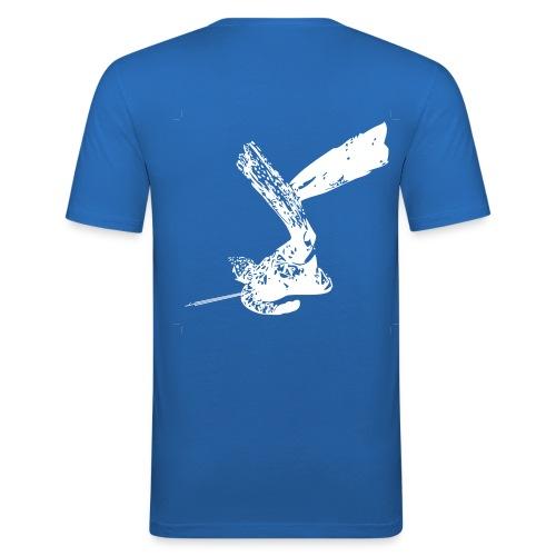 Eco-Maglietta celeste - Maglietta aderente da uomo