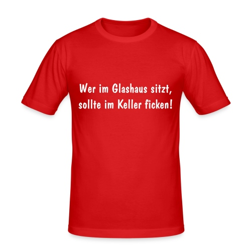 "Slim-Shirt ""Glashaus"" orange - Männer Slim Fit T-Shirt"