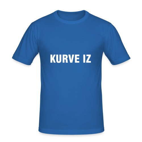 "T-Shirt Man ""KURVE IZ"" - Männer Slim Fit T-Shirt"