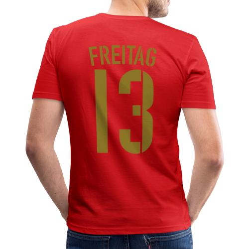 FREITAG 13 (Away, Gold) - Männer Slim Fit T-Shirt