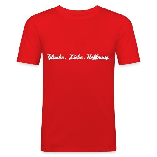 Glaube, Liebe, Hoffnung - T-Shirt - Männer Slim Fit T-Shirt