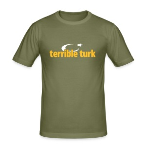 terrible turk ayyıldızlı - Männer Slim Fit T-Shirt