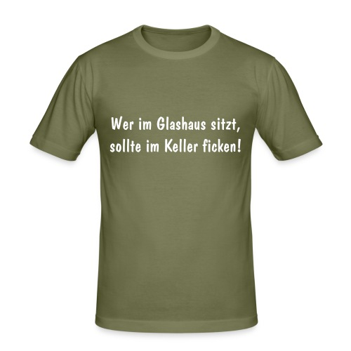 "Slim-Shirt ""Glashaus"" brown - Männer Slim Fit T-Shirt"