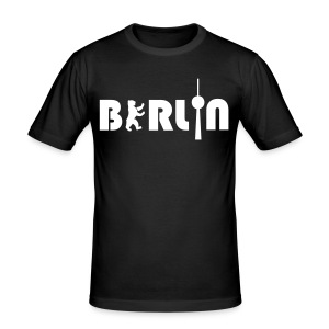 BERLIN men - Männer Slim Fit T-Shirt