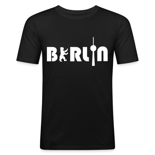 BERLIN men - Männer Slim Fit T-Shirt