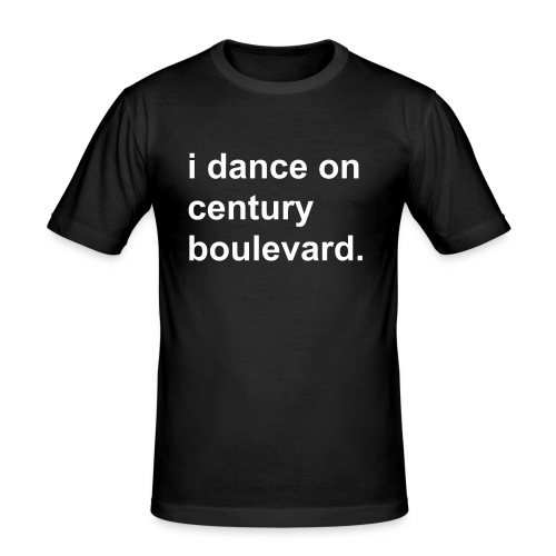 i dance on century boulevard. men black - Männer Slim Fit T-Shirt