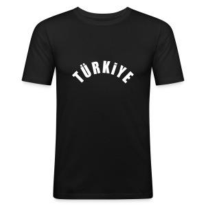 Türkiye Siyah - Männer Slim Fit T-Shirt