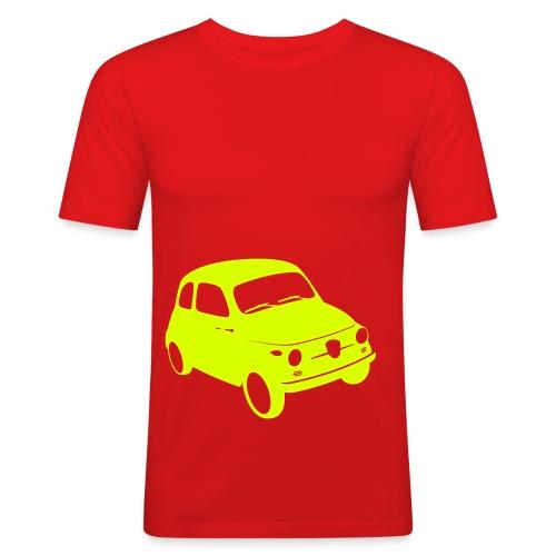Men's Slim Fit T-Shirt - derived from Studiocharlie's Design We Like typeface (sold on www.myfonts.com)