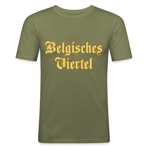 Belgisches Viertel (Frakturschrift) - Männer Slim Fit T-Shirt