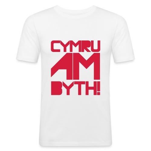 CYMRU AM BYTH! - Men's Slim Fit T-Shirt