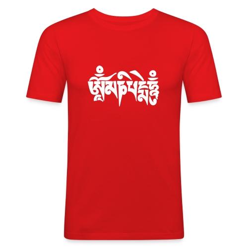om mani padme hum + Free Tibet - Männer Slim Fit T-Shirt