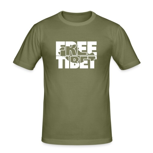 Free Tibet Border - Männer Slim Fit T-Shirt