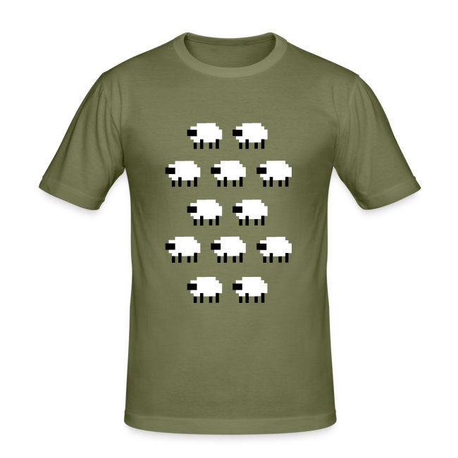 very cool blocky sheep t-shirt