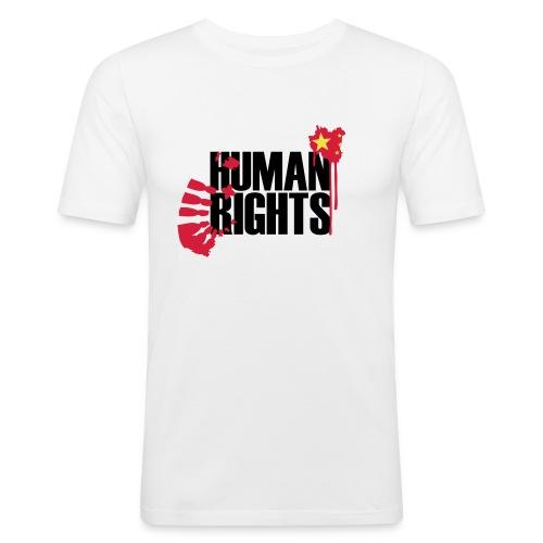 human rights 3c - Männer Slim Fit T-Shirt