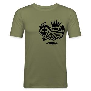 Skull Tribal 4 Shirt - Männer Slim Fit T-Shirt
