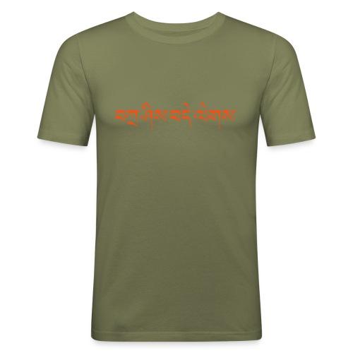 Tashi Delek + Free Tibet - Männer Slim Fit T-Shirt