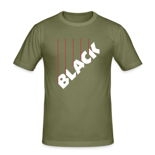 Syntax BLACK - Männer Slim Fit T-Shirt