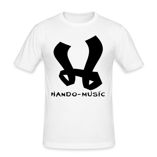 """T-Shirt """"Hando-Music"""" (weiß/schwarz) - Männer Slim Fit T-Shirt"""