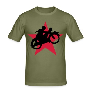 Cycle Red Star - Männer Slim Fit T-Shirt