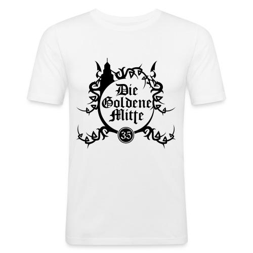 """T-Shirt """"DGM"""" (weiß/schwarz) - Männer Slim Fit T-Shirt"""