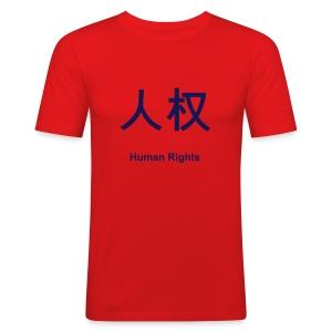 Volker Beck: für Menschenrechte - Männer Slim Fit T-Shirt