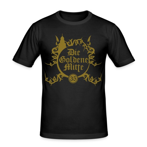 """T-Shirt """"DGM"""" (schwarz/gold) - Männer Slim Fit T-Shirt"""