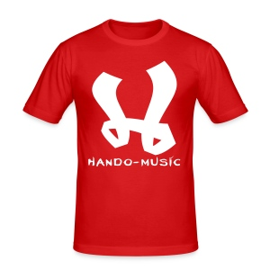 "T-Shirt ""Hando-Music"" (weiß/gold) - Männer Slim Fit T-Shirt"