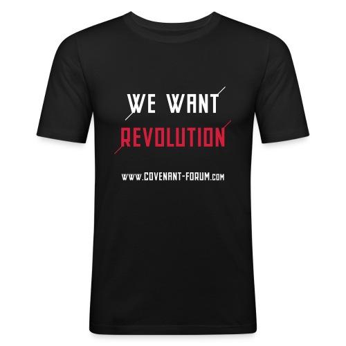 We Want 1 (Front) - Männer Slim Fit T-Shirt