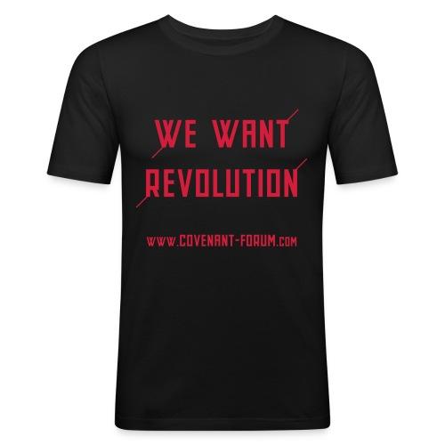 We Want 2 (Front) - Männer Slim Fit T-Shirt