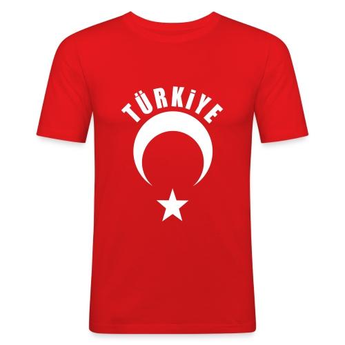 Türkiye Shirt Erkek kırmızı - Männer Slim Fit T-Shirt