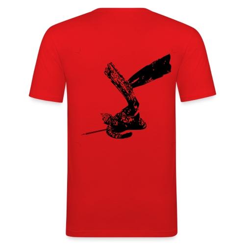 Eco-Maglietta rosso scuro - Maglietta aderente da uomo