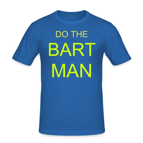 Bart Man - Blue/Neon - Men's Slim Fit T-Shirt