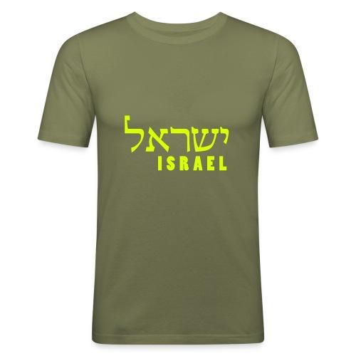 ISRAEL - hebräisch - Männer Slim Fit T-Shirt