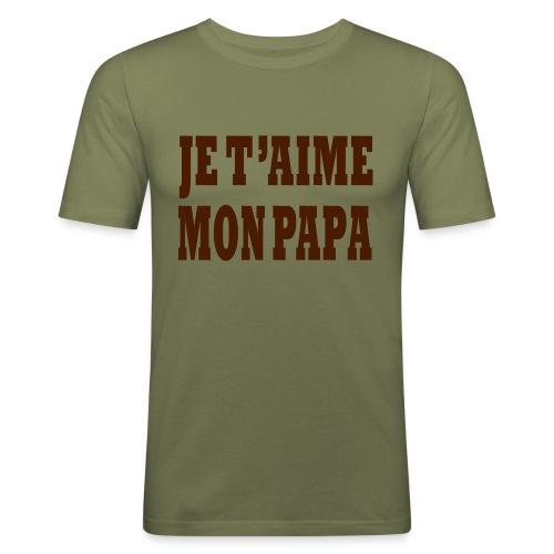 je t aime papa - T-shirt près du corps Homme